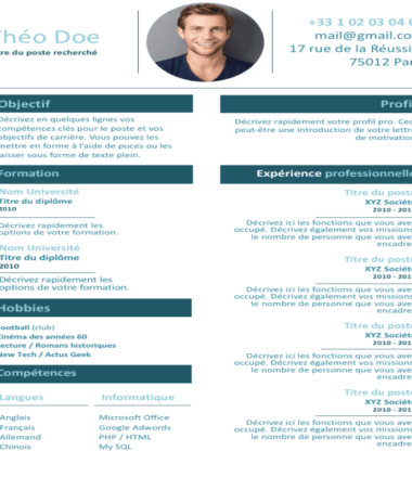 Example of CV Self-employed