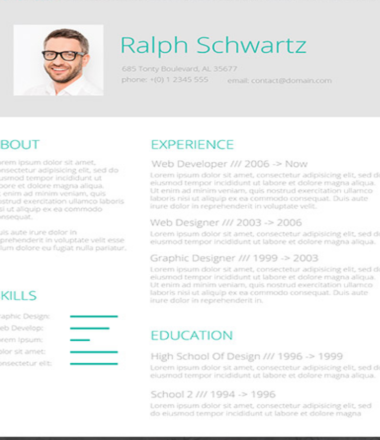 Minimalistic Green – A Simplified Resume CV Giveaway