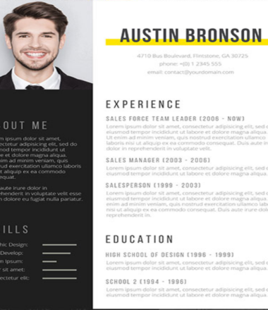 Contrast, The Free Fill In The Blank CV Design